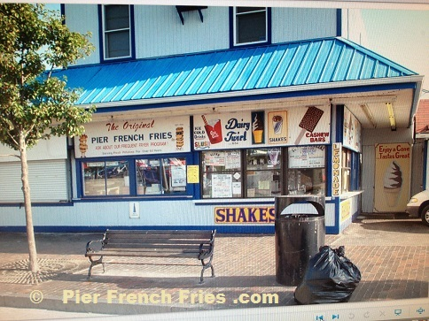 Pier French Fries after the pier destoryed